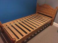 Solid John Lewis single bed frame £40