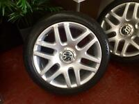 "OEM VW Borbet / Helios 19"" 5x112 Alloy Wheels"