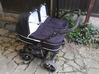 "Twins ""Freestyle Cool"" Double Pram/Pushchair"
