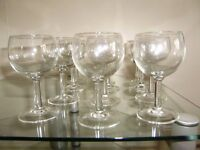 Glassware for wine and spirits or sherry