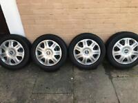 Wheels with Michelin tyres