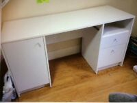 Calgary office desk with cupboard and file storage units