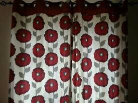 Poppy curtains 2 sets 72 drop 46across