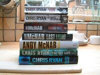 7 Chris Ryan and Andy McNab Books