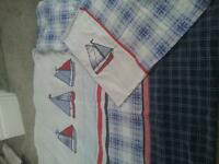 Boys single boat bedding set and extras