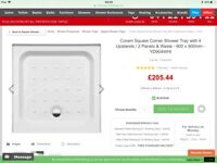 900x900shower tray. Brand new. Wrong size bought and to late to return