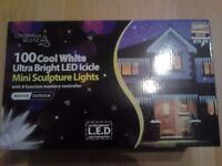 Top quality Christmas outdoor Icicle Lights 100, look beautiful for Christmas cost £40 sell for £15