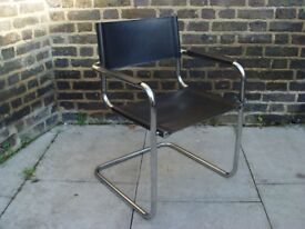 FREE DELIVERY Vintage Black Cantilever Chair Retro Furniture