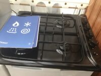 Indesit electric oven and Gas hob along with stainless steel sink with mixer tap