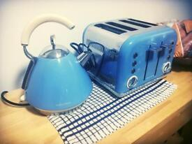 Cornflower blue kettle and toaster £35 for both!!