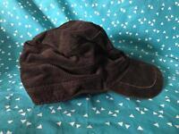 Brown Cord Winter Cap