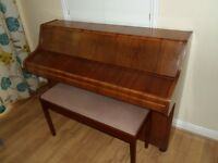 Bentley upright piano with seat