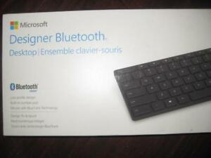 Microsoft Designer Bluetooth Desktop. Wireless Keyboard Mouse. No USB Receiver Required. For Laptop / Macbook / Android