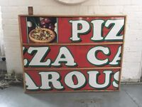 Vintage industrial upcycled kitchen unit/ cupboard/ shelves perfect for Pizza Lovers :)