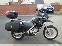 bmw f650gs twin spark with many extras to make this an ideal touring motorcycle