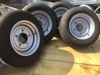 Plant trailer wheels 185/70/13 ifor Williams etc