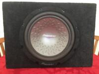 Pioneer subwoofer and Auna amplifier