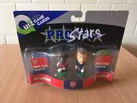 Corinthian Pro Stars Arsenal Figures Dennis Bergkamp & Sol Campbell