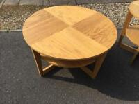 Large round coffee table