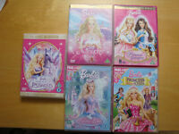 Bundle of 5 Barbie dvds