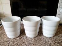 White Ceramic Vases x 20