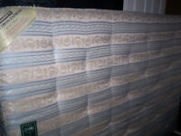 Double Orthopaedic Mattress with extra strength spring unit.