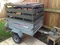 Erde 102 Galvanised Trailer with Extension Crate