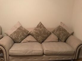 Dfs 4 seater sofa, armchair and foot stool