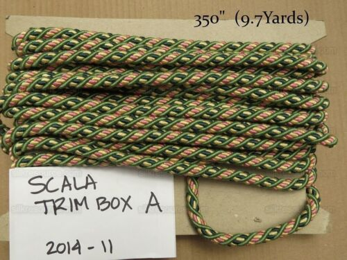 9.7Y Green Pink Yellow SCALAMANDRE DESIGNER TRIM BOX A