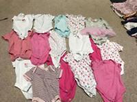 0-3 months baby girls vests