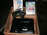 Sega Megadrive Boxed with 1 pad and 2 boxed games Outrun' Sonic
