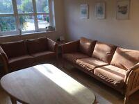 3 seater & 2 seater sofa settee, classic Danish Tremme Sofa. Alcatara fabric, Washable covers