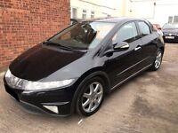 Honda Civic 2.2 i-CTDi EXECUTIVE 5 door - 2006, 12 Months MOT, 9 Service Stamps, SATNAV GPS, £2395