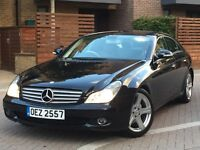 2007 MERCEDES CLS 320 CDI BLACK AUTO 89.000 MILES F/SH 1 OWNER CAR VERY HIGH SPEC IMMACULATE IN/OUT