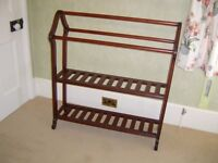 Towel rail. Solid hardwood. Dark wood finish. Perfect condition