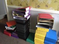 Box files and ring binders - a lot
