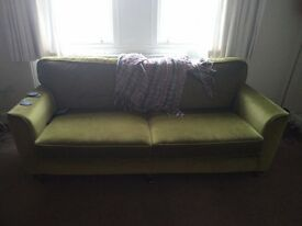 Green Martin Frost 3 Seater Sofa