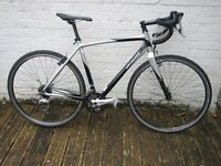 specialised tri cross cycle 27 speed 54cm recent chainset good tyres carbon fork