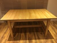 Ikea Norden Light Pine Dining Table, Good condition