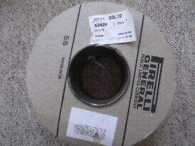 Unopened 50 metre reel 1mm twin and earth cable - old colours - red and black - 6242Y