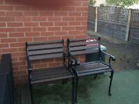 Pair of Cast Iron Garden Chairs