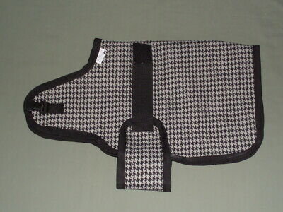 22 Silver Houndstooth Goat Sheep Winter Water-resistant Coat Jacket Lined