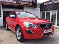 2010 10 VOLVO XC60 2.4 DIESEL LEATHER FULL HISTORY SAT NAV AIR CON RED STUNNING JEEP!!
