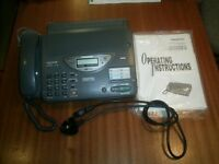 Telephone Answering System with Facsimile