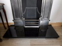 Black Granite Hearth, Brand New in Packaging (set up to take photo)