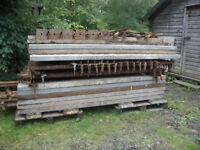 Kwikstage Scaffold, 40ft x 16ft, five bays, steel battens