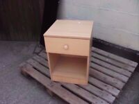 Bedside table beech one drawer storage delivery available £5