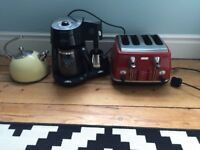 Kettle, toaster and coffee machine