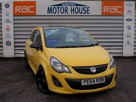 Vauxhall Corsa LIMITED EDITION (SAT NAV) FREE MOT'S AS LONG AS YOU OWN THE CAR!!! (yellow) 2014