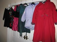 Girls Coats and Party Dresses Age 7-8
